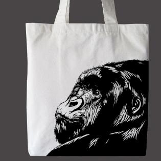gorilla canvas bag